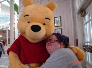 Living means hugs from Pooh